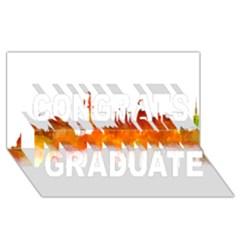 Barcelona 02 Congrats Graduate 3D Greeting Card (8x4)