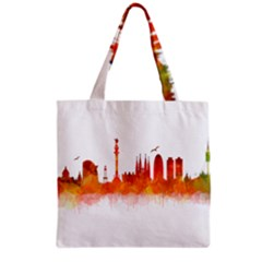 Barcelona 02 Grocery Tote Bags