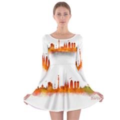 Barcelona 02 Long Sleeve Skater Dress