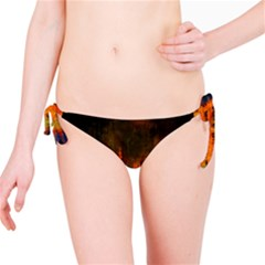 Barcelona City Dark Watercolor Skyline Bikini Bottoms