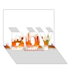 Barcelona City Art BOY 3D Greeting Card (7x5)