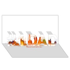 Barcelona City Art #1 DAD 3D Greeting Card (8x4)