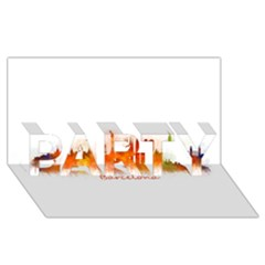 Barcelona City Art PARTY 3D Greeting Card (8x4)