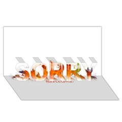 Barcelona City Art Sorry 3d Greeting Card (8x4)
