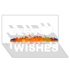 Barcelona City Art Best Wish 3d Greeting Card (8x4)