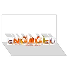 Barcelona City Art Engaged 3d Greeting Card (8x4)