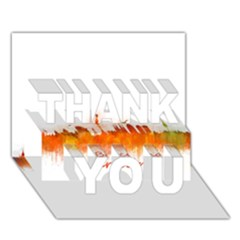 Barcelona City Art THANK YOU 3D Greeting Card (7x5)