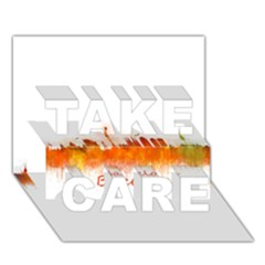 Barcelona City Art Take Care 3d Greeting Card (7x5)
