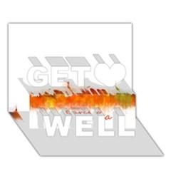 Barcelona City Art Get Well 3d Greeting Card (7x5)