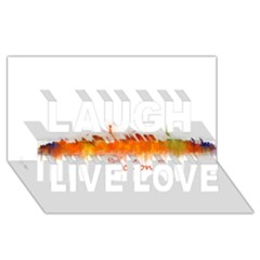 Barcelona City Art Laugh Live Love 3d Greeting Card (8x4)