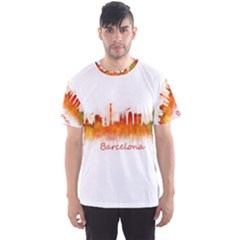 Barcelona City Art Men s Sport Mesh Tees