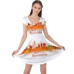 Barcelona City Art Cap Sleeve Dresses