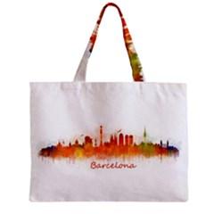 Barcelona City Art Zipper Tiny Tote Bags