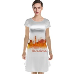 Barcelona City Art Cap Sleeve Nightdresses