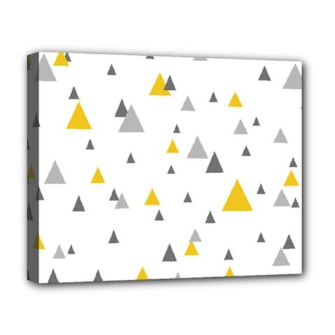 Pastel Random Triangles Modern Pattern Deluxe Canvas 20  x 16