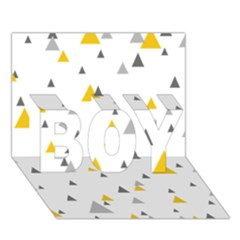 Pastel Random Triangles Modern Pattern BOY 3D Greeting Card (7x5)
