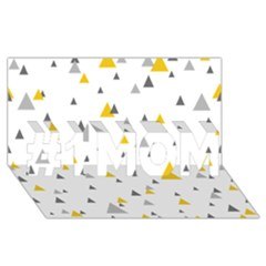 Pastel Random Triangles Modern Pattern #1 MOM 3D Greeting Cards (8x4)