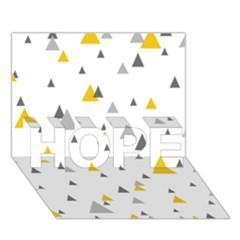 Pastel Random Triangles Modern Pattern Hope 3d Greeting Card (7x5)
