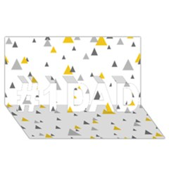 Pastel Random Triangles Modern Pattern #1 DAD 3D Greeting Card (8x4)