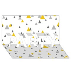 Pastel Random Triangles Modern Pattern PARTY 3D Greeting Card (8x4)