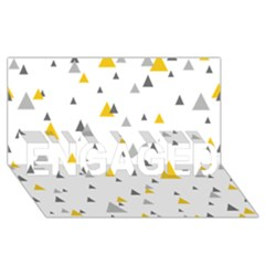 Pastel Random Triangles Modern Pattern ENGAGED 3D Greeting Card (8x4)