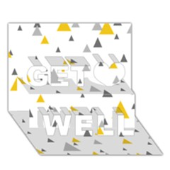 Pastel Random Triangles Modern Pattern Get Well 3D Greeting Card (7x5)