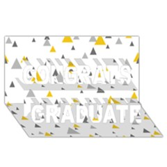 Pastel Random Triangles Modern Pattern Congrats Graduate 3D Greeting Card (8x4)