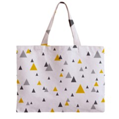 Pastel Random Triangles Modern Pattern Zipper Tiny Tote Bags