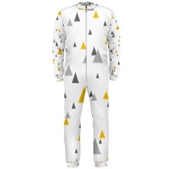Pastel Random Triangles Modern Pattern Onepiece Jumpsuit (men)