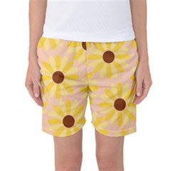 Sunflowers Everywhere Women s Basketball Shorts