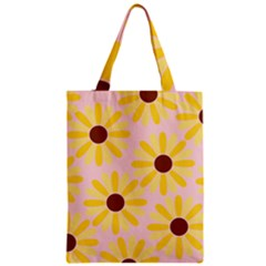 Sunflower Zipper Classic Tote Bags