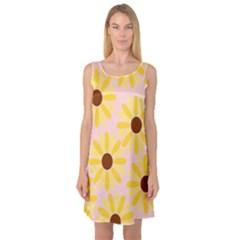 Sunflower Sleeveless Satin Nightdresses