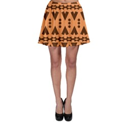 Tribal Print Hippie Pattern  Skater Skirts