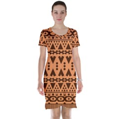 Tribal Print Hippie Pattern  Short Sleeve Nightdresses