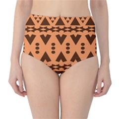 Tribal Print Hippie Pattern  High-Waist Bikini Bottoms