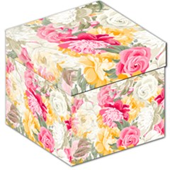 Colorful Floral Collage Storage Stool 12