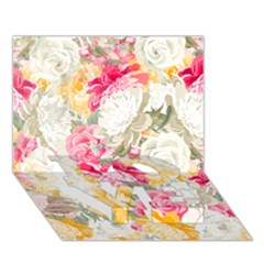 Colorful Floral Collage LOVE Bottom 3D Greeting Card (7x5)