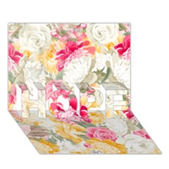 Colorful Floral Collage HOPE 3D Greeting Card (7x5)