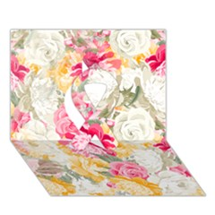 Colorful Floral Collage Ribbon 3d Greeting Card (7x5)