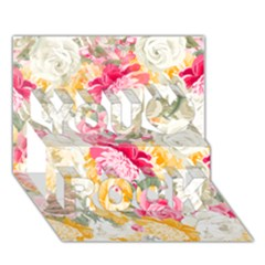 Colorful Floral Collage You Rock 3d Greeting Card (7x5)