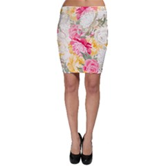 Colorful Floral Collage Bodycon Skirts