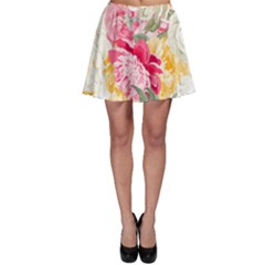 Colorful Floral Collage Skater Skirts