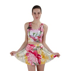 Colorful Floral Collage Mini Skirts