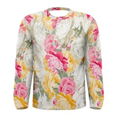 Colorful Floral Collage Men s Long Sleeve T-shirts