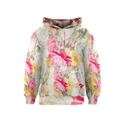 Colorful Floral Collage Kid s Pullover Hoodies