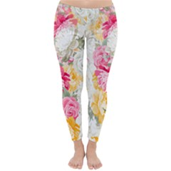 Colorful Floral Collage Winter Leggings