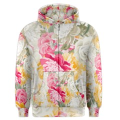 Colorful Floral Collage Men s Zipper Hoodies