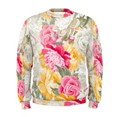 Colorful Floral Collage Men s Sweatshirts