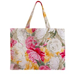 Colorful Floral Collage Zipper Tiny Tote Bags