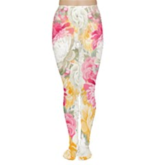 Colorful Floral Collage Women s Tights